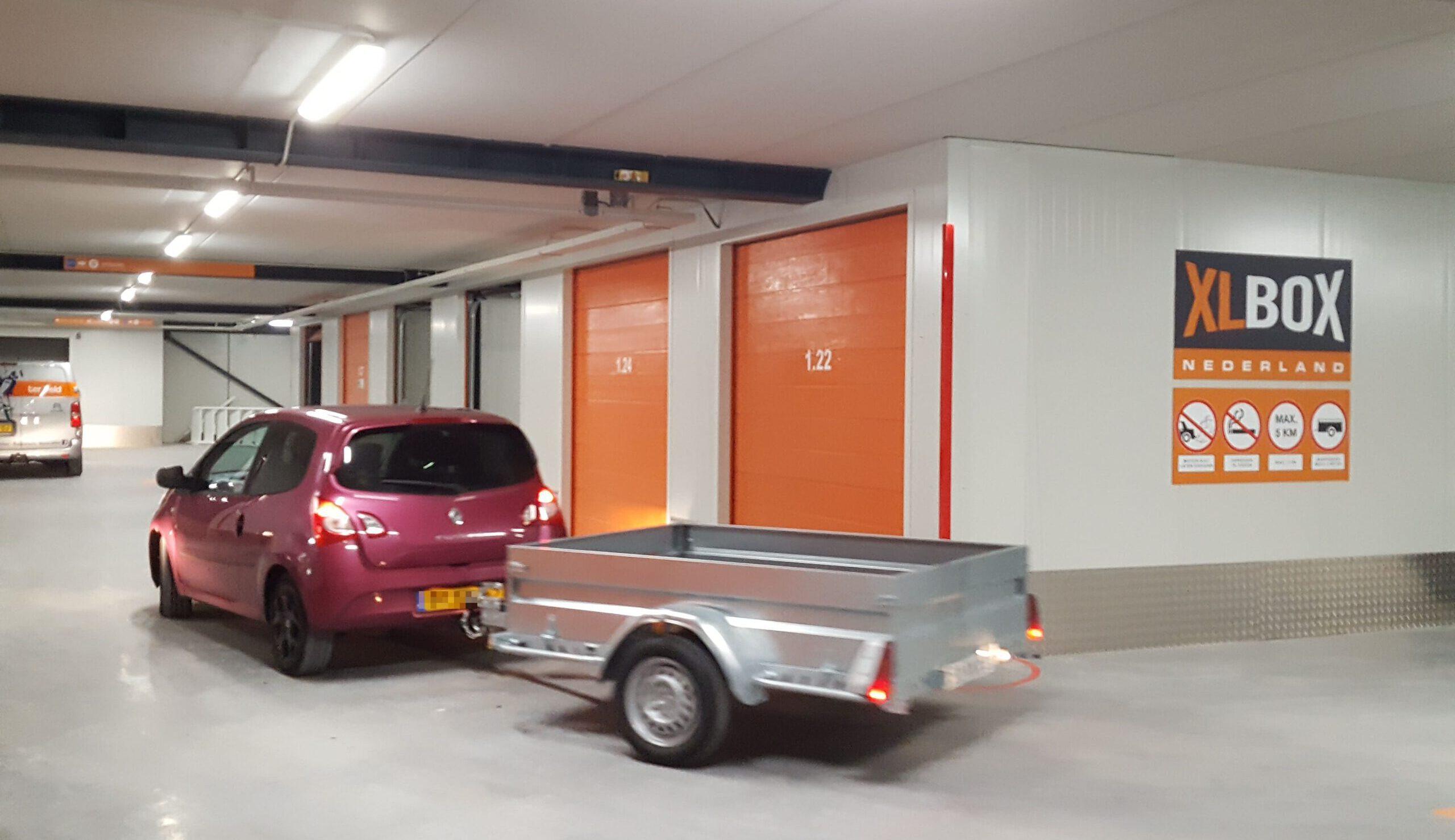 XLBox Garagebox auto met aanhanger