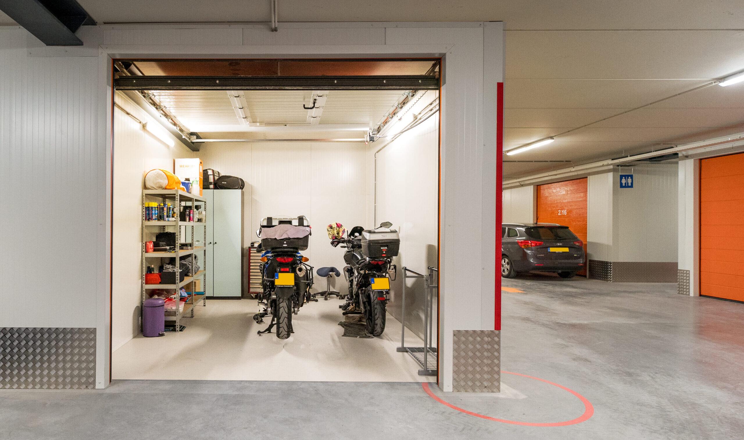 Garagebox als opslagruimte