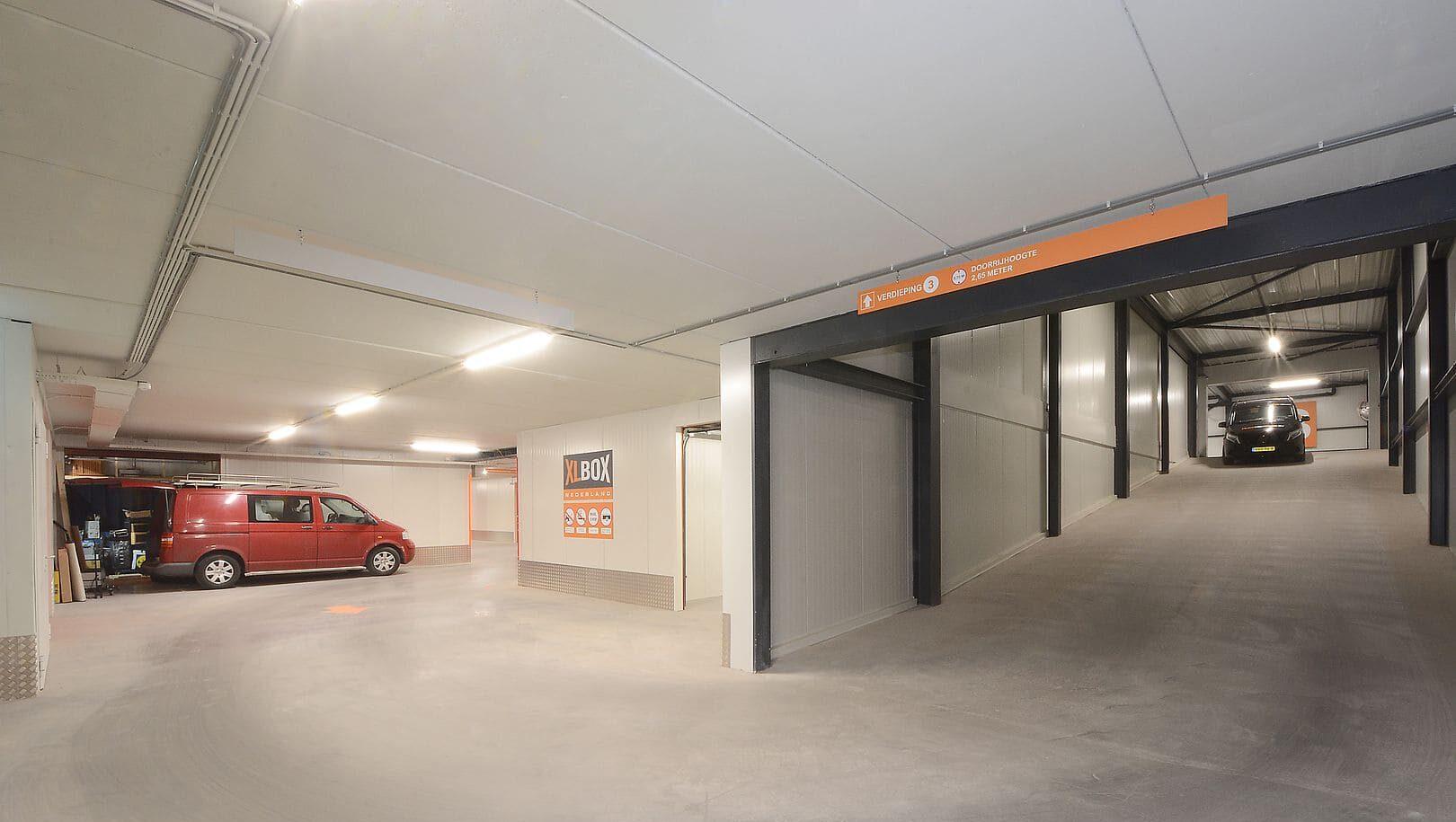 Garagebox en hellingbaan