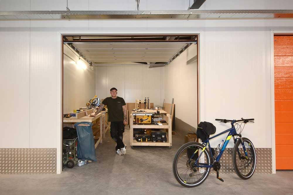 Garagebox als bedrijfsruimte